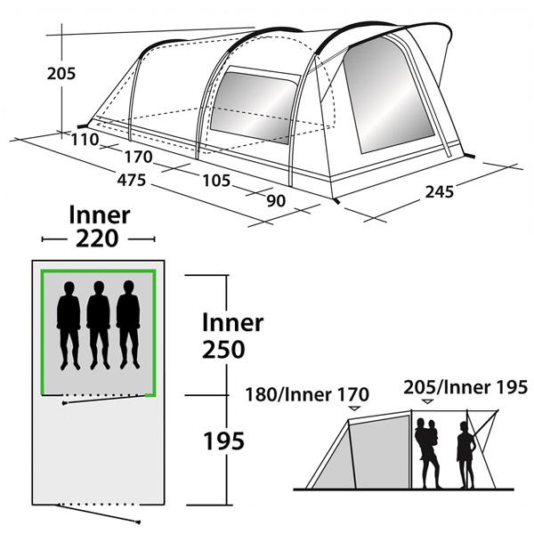 Кемпинговая палатка Outwell Birdland 3