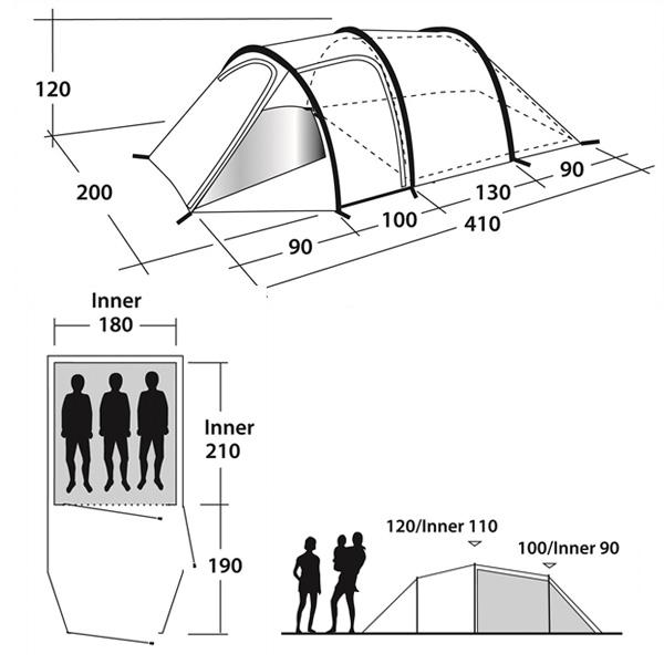 Кемпинговая палатка Outwell Earth 3
