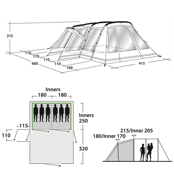 Кемпинговая палатка Outwell Montana 6