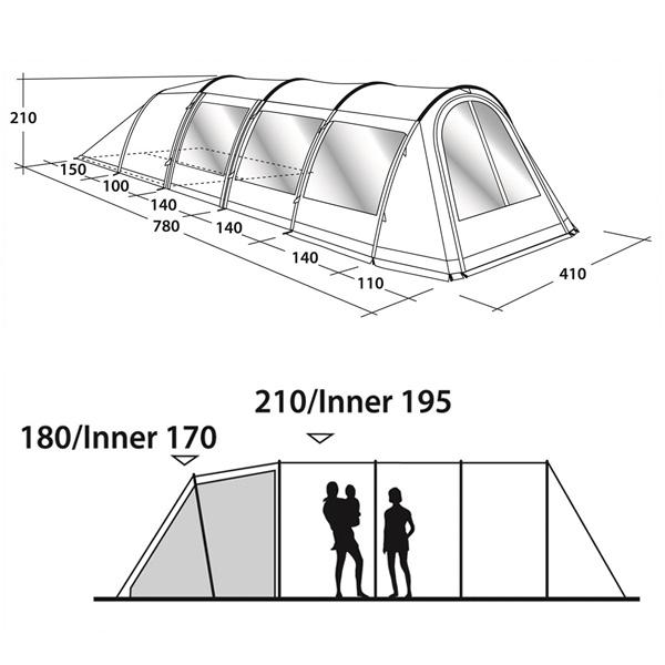 Кемпинговая палатка Outwell Phoenix 6 схема