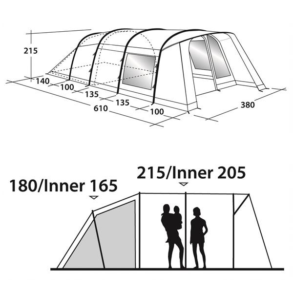 Кемпинговая палатка Outwell Whitecove 6 схема 2