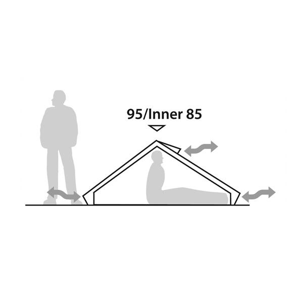 Экстремальная треккинговая палатка Robens Starlight 1 схема