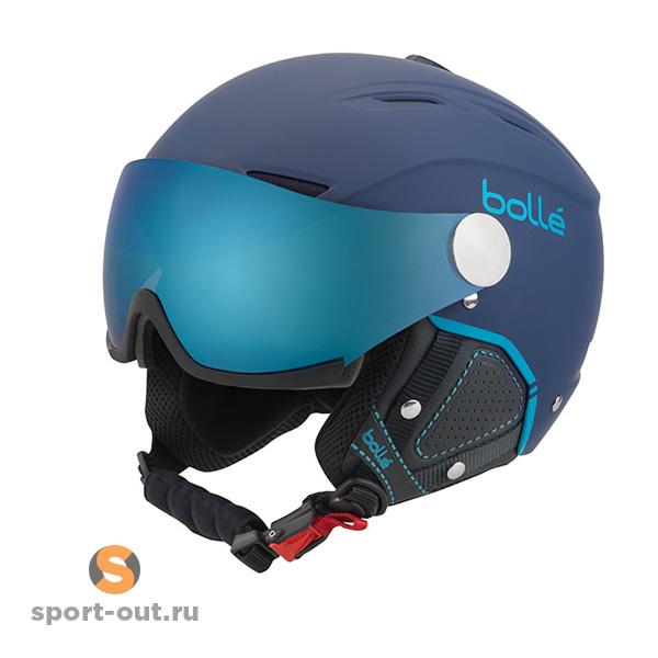 Шлем горнолыжный-Bolle Backline Visor Premium Navy